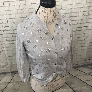 J. Crew Collection Crystal Constellation Cardigan